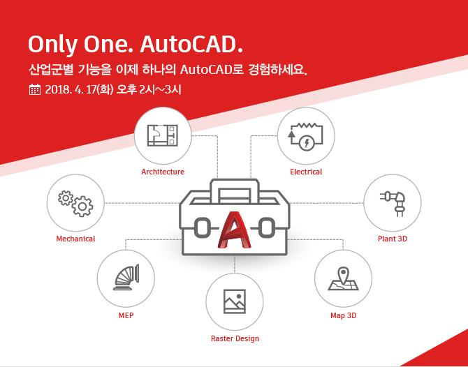 Only One AutoCAD 산업군별 기능을 이제 하나의 AutoCAD로 경험하세요.